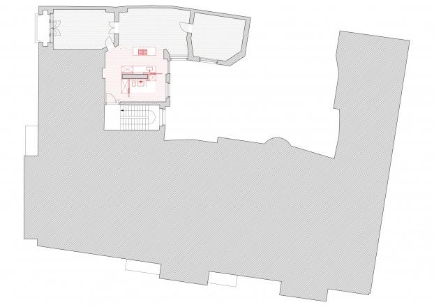 Grundriss der Wohnung mit Umbau